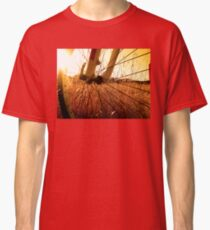Cycling In A Wheat Field Classic T-Shirt