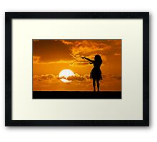 Sunset Hula Framed Print