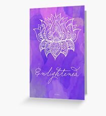 Crown Chakra - Enlightened Greeting Card
