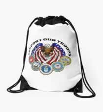 Support Our Troops  Drawstring Bag
