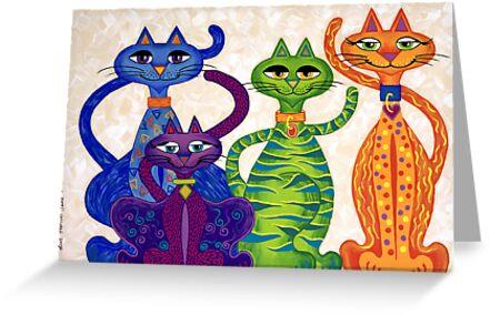 'High Street Cats' - a little bit Posh! (larger version) by Lisafrancesjudd