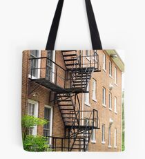 Up to the Roof - Mars Hill, North Carolina Tote Bag