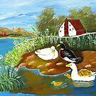 Ducks on the lake by maggie326