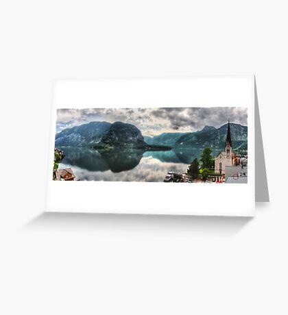 Hallstatter Lake, Austria - HDR Panorama Greeting Card
