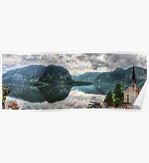 Hallstatter Lake, Austria - HDR Panorama Poster