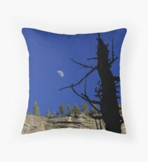 Moonrise over Granite Throw Pillow