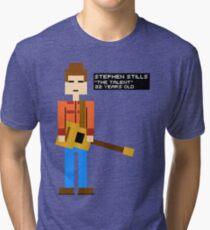 Stephen Stills - The Talent - 8-Bit Tri-blend T-Shirt