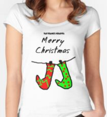 Bad Drawer Presents Stockings Women's Fitted Scoop T-Shirt