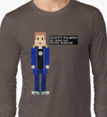 Scott Pilgrim - Rating: Awesome - 8-Bit Long Sleeve T-Shirt