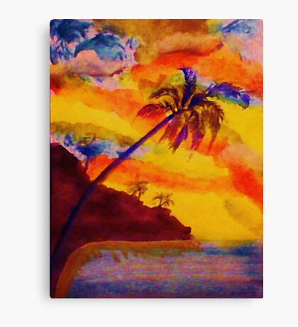 Natural Fireworks, watercolor Canvas Print