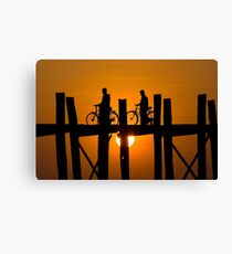 U-Bein's Bridge Canvas Print