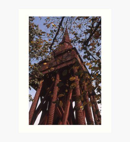 Wooden tower, Sweden Art Print