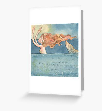 "Mermaid ,illustration of the story ""Ligea"" Greeting Card"