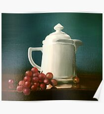 Coffee and Grapes Poster
