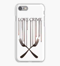 Love crime iPhone Case/Skin