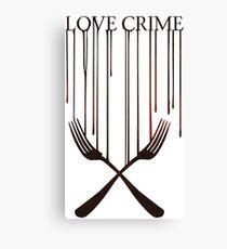 Love crime Canvas Print