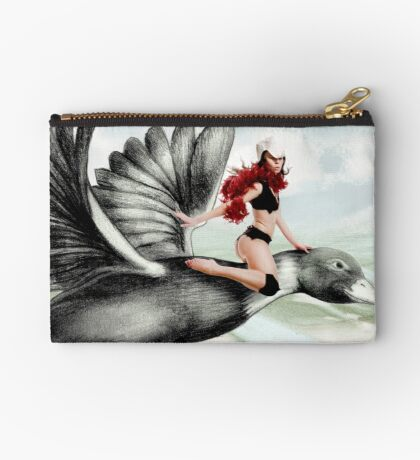 Arual the Elf flying on a goose Studio Pouch