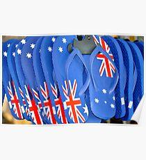 Aussie Thongs Poster