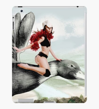 Arual the Elf flying on a goose iPad Case/Skin
