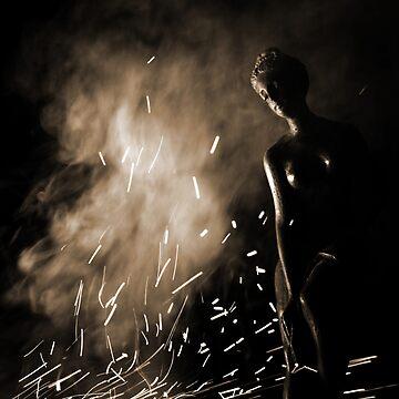 She Strode in a Storm of Fireflies by DanielOwens