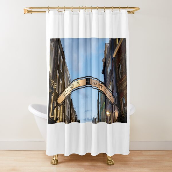 Signage at Carnaby Street City of Westminster, London Shower Curtain