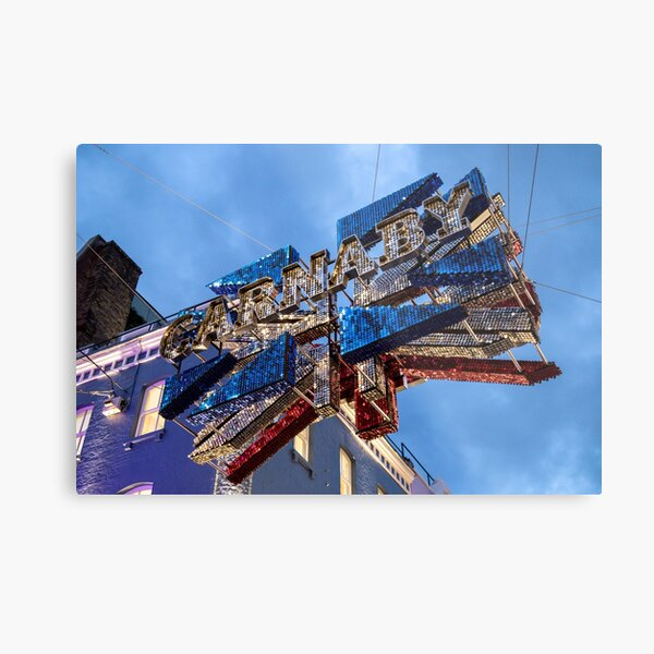 Signage at Carnaby Street City of Westminster, London Metal Print