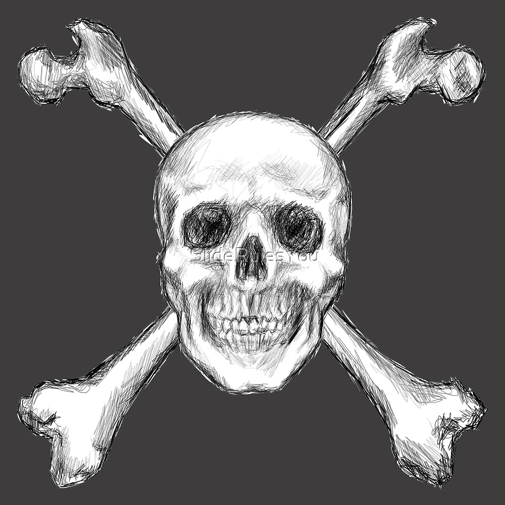 Skull and Crossbones, Centred by SlideRulesYou