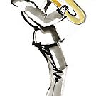 Musician Saxophonist Drawing Series by CatarinaGarcia