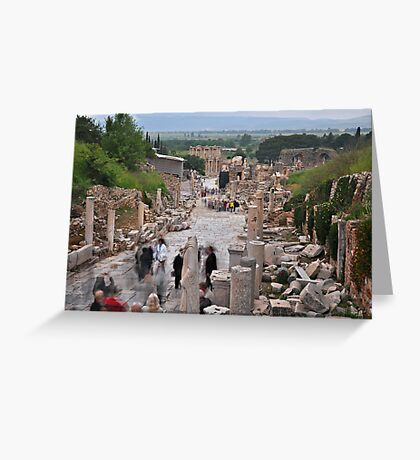 Main Street, Ephasus Greeting Card