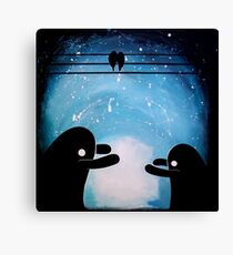 Monster cuddles Canvas Print