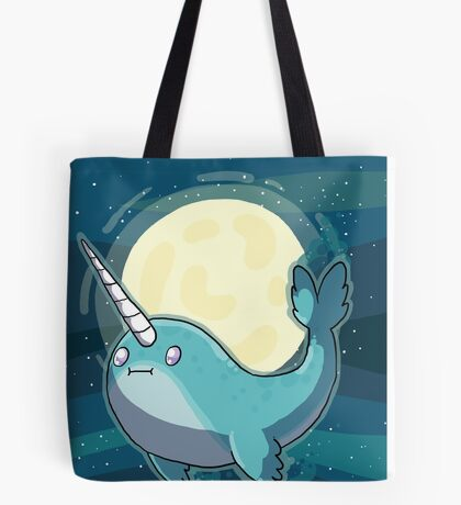Space Narwhal Tote Bag