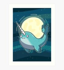 Space Narwhal Art Print