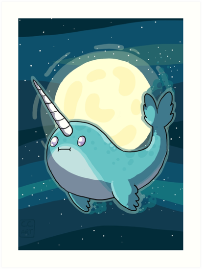 Space Narwhal by C.C Art