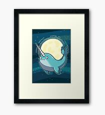 Space Narwhal Framed Print