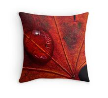 Rainy Day Red Throw Pillow