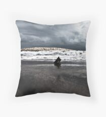 Brewing storm over the ocean Throw Pillow