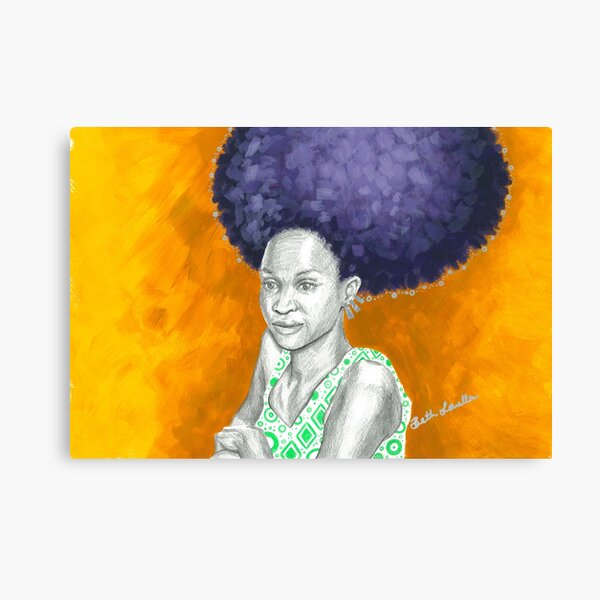 Afro Halo Purple and Yellow Canvas Print