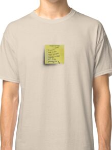 Post-it Note Tee Classic T-Shirt