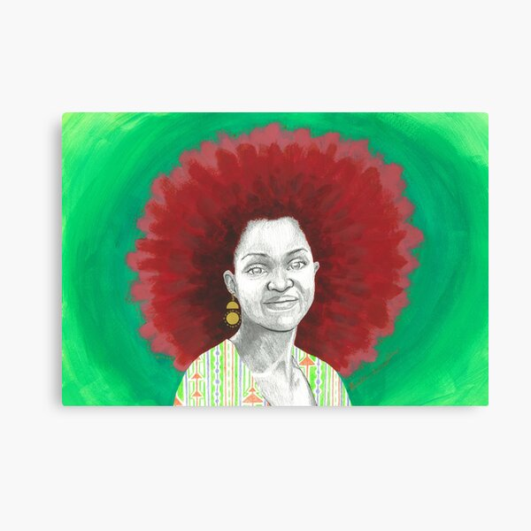 Afro Halo Red and Green Canvas Print