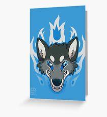 Fiery Wolf Greeting Card