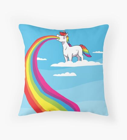 Where Rainbows Come From Throw Pillow