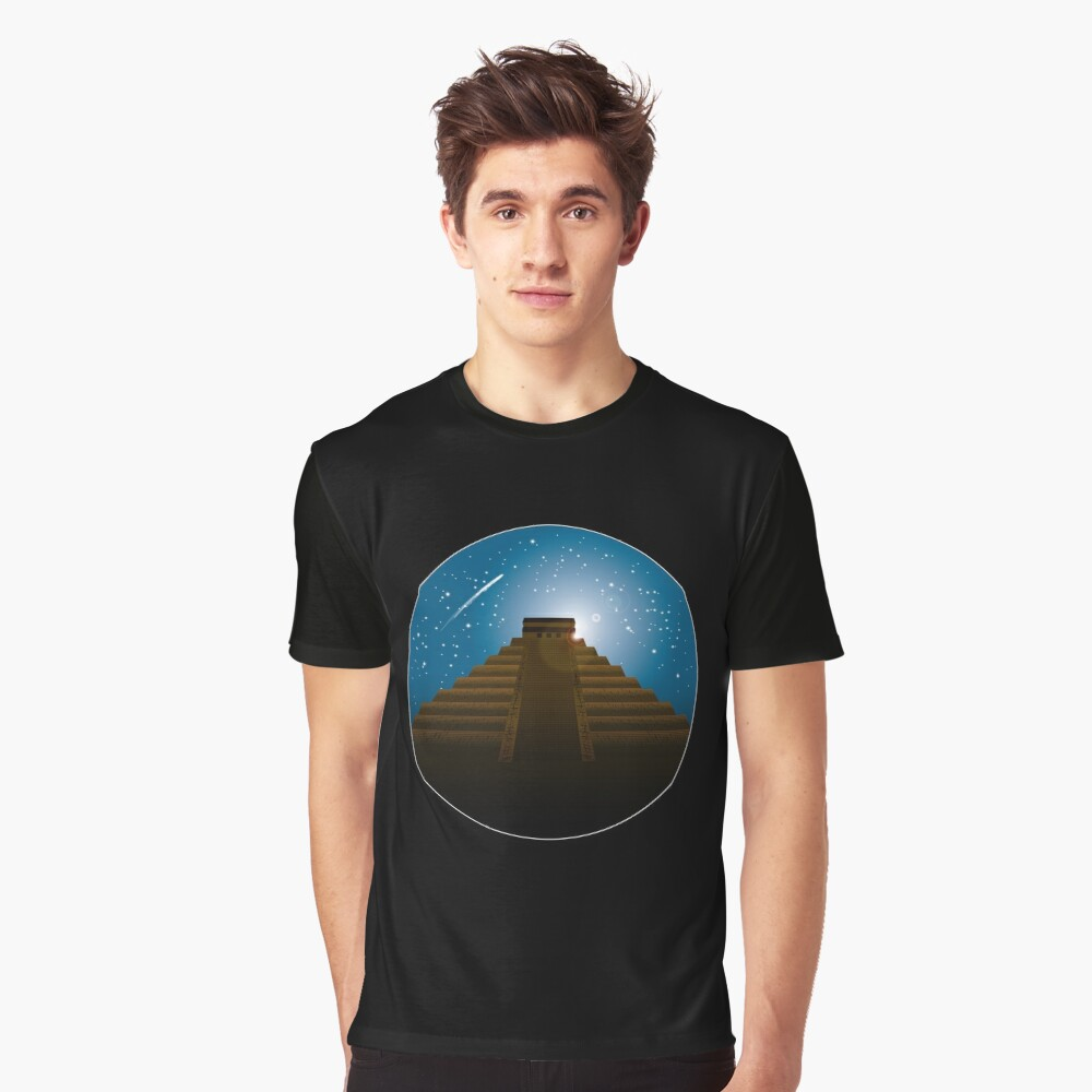 Mayan Temple Graphic T-Shirt