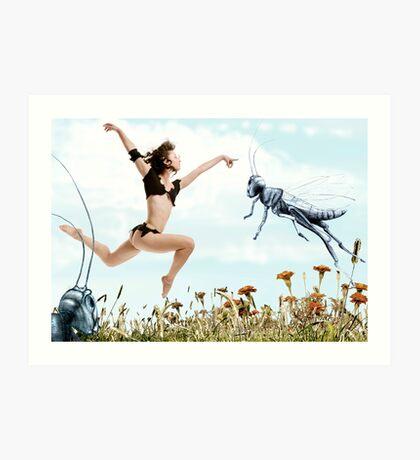 Jump like a cricket Art Print