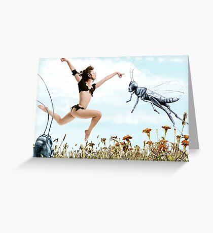 Jump like a cricket Greeting Card