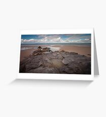 Broughton Bay rockpool Gower Greeting Card
