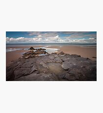 Broughton Bay rockpool Gower Photographic Print