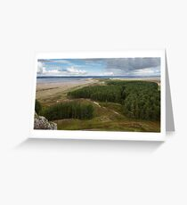 Whiteford Woods Gower Swansea Greeting Card