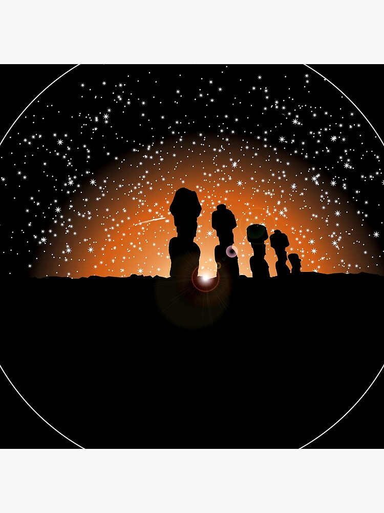 Easter Island Twilight by twistedshadow