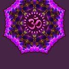 Pink Purple Aum Om Geometry by webgrrl