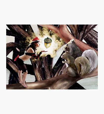 Marry Christmas - Squirrel girl Photographic Print
